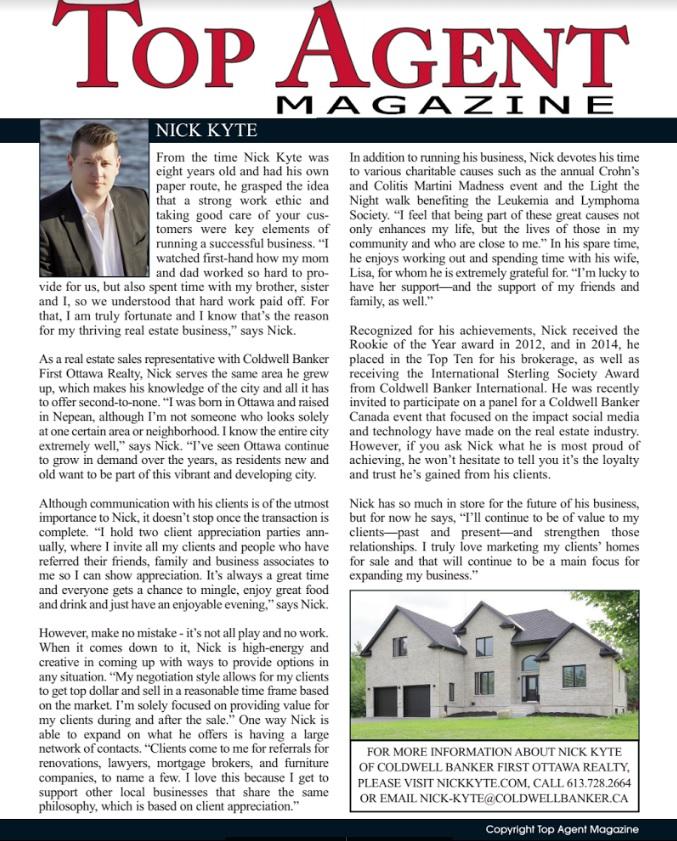Top Agent Magazine 2015